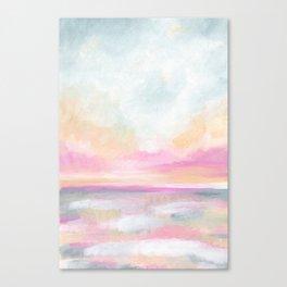 Peace, Love & Joy - Tropical Ocean Seascape Canvas Print