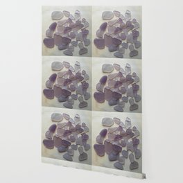 Genuine Purple Sea Glass Collection Wallpaper