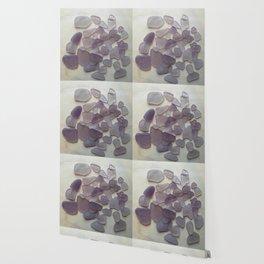 Genuine Purple Sea Glass Collection Wallpaper