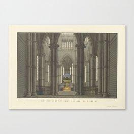 Decor voor Axel and Walburg. Treurspel door A. Oehlen warehouses, Friedrich Jügel, after Karl Friedr Canvas Print