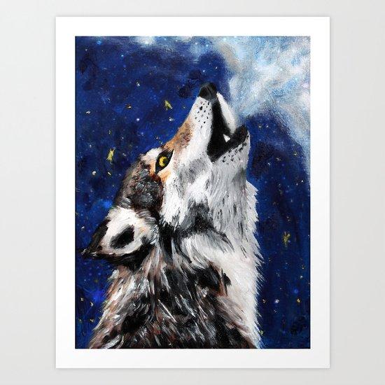 Wolf's breath Art Print