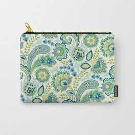 Spring Garden Paisley Carry-All Pouch