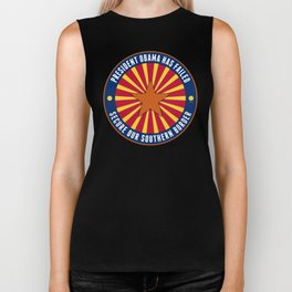 Secure Our Southern Border Biker Tank