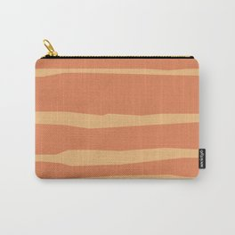 Abstract | Orange Lines Carry-All Pouch