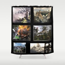 3D Fantasy multi  Shower Curtain