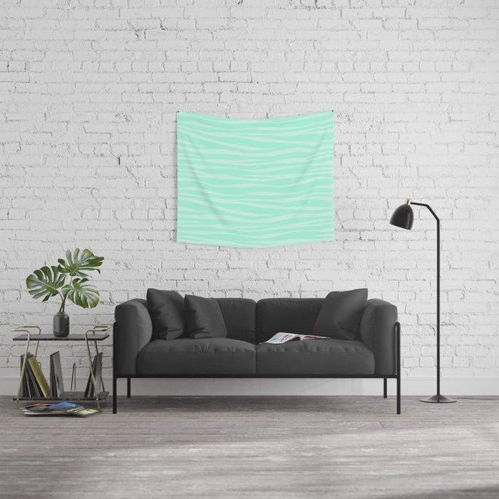 Zebra Print - Sugar Mint Wall Tapestry