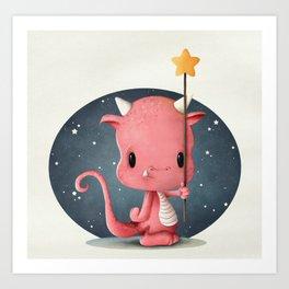The Cute Monster Art Print