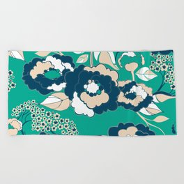 Rosetta in Nautical Beach Towel