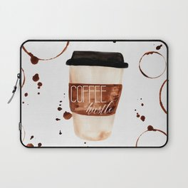 Coffee and Hustle on the Go Laptop Sleeve