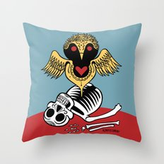 Búho de la Muerte Throw Pillow