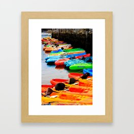 Canoes Framed Art Print