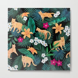 Ginger Cats in the Jungle Metal Print