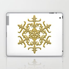 ornament, pattern, decor, gold decor, floral pattern, winter pattern, coldly, jewelry, frosty patter Laptop & iPad Skin