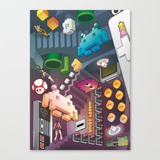 Lost in videogames Canvas Print