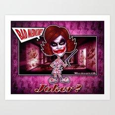The Joker concept! Art Print