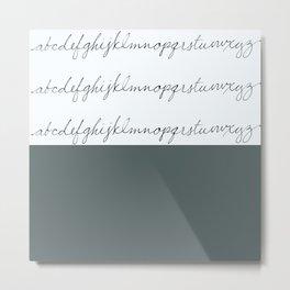 Alphabet-Grey Metal Print