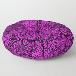Squirrels Zentangle Drawing Pink Floor Pillow