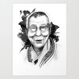 Belief & Knowledge (Dalai Lama) by carographic Art Print