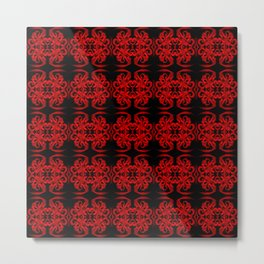 Baroque Red Metal Print