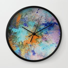 background painted Wall Clock