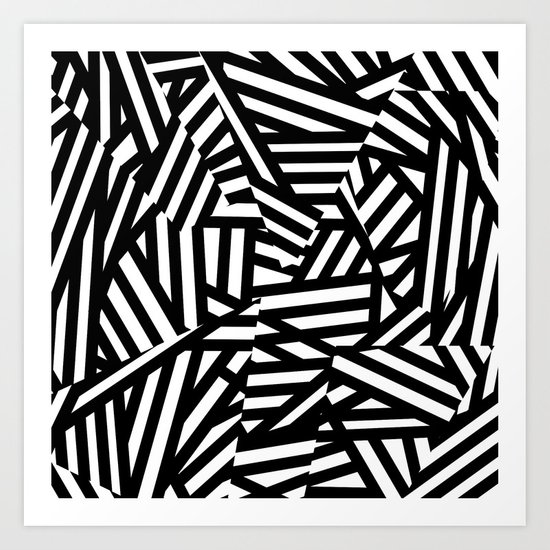 Simply Black and White 1 Art Print