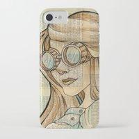 hallion iPhone & iPod Cases featuring Iron Woman 1 by Karen Hallion Illustrations