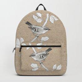 Goldcrest graphite drawing Backpack