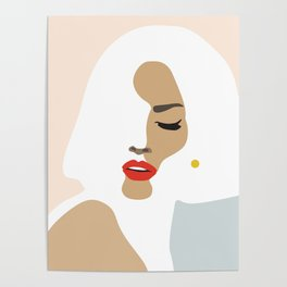 Woman with earring Nr/3 Poster