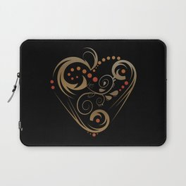 GOLDEN HEART  (valentine art deco abstract love) Laptop Sleeve