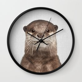 Otter - Colorful Wall Clock