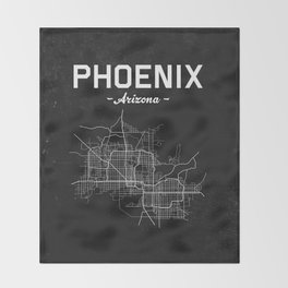 Phoenix, Arizona - b/w Throw Blanket
