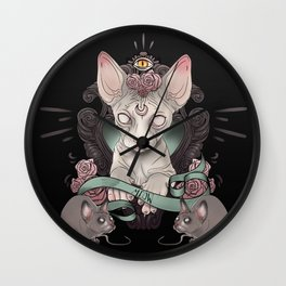 Sphynx - Dark Wall Clock