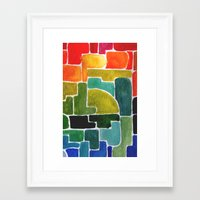 maze runner Framed Art Prints featuring Maze Runner by Lara Nicholls