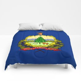 Vermont State Flag Comforters