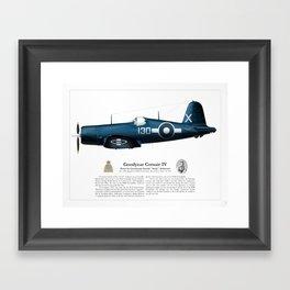 Corsair IV - Gerald Anderson Framed Art Print