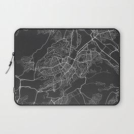 Stuttgart Map, Germany - Gray Laptop Sleeve