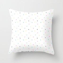 Pastel Colors Throw Pillow