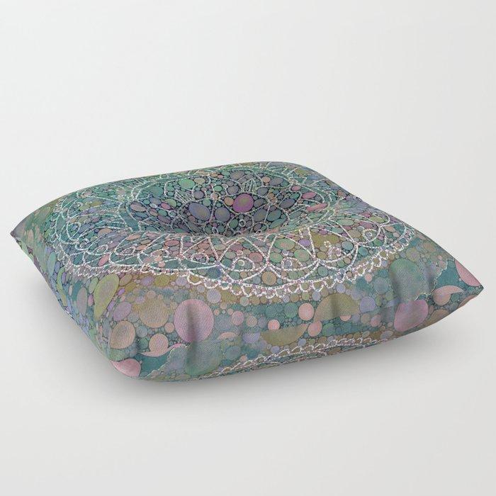 Moody Hipster Mandala Floor Pillow