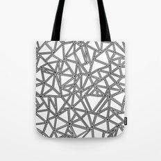 Abstract New Black on White Tote Bag