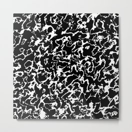Wild Marble 3 - black and white Metal Print
