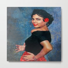 Dorothy Dandridge Ruby Sparkle Metal Print