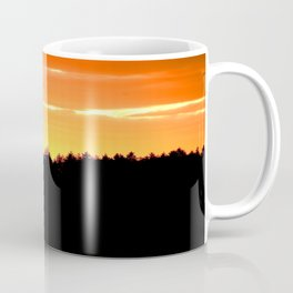 Black Forest Silhouette In Orange Sunset #decor #society6 Coffee Mug