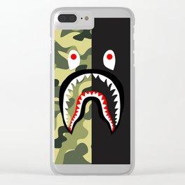 bape shark army Clear iPhone Case