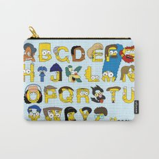 Simpsons Alphabet Carry-All Pouch