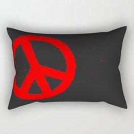 Ban the Bomb Blackboard Rectangular Pillow