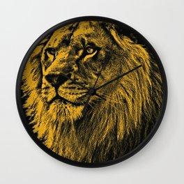 Golden Lion Wall Clock