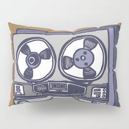 Vintage Tape Recorder Pillow Sham