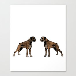 I Was Normal 2 Boxers Ago Shirt Gift For Dog Lovers Canvas Print