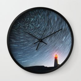 Lighthouse in the Stars Wall Clock