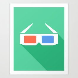 3D Glasses. Art Print
